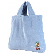 Foldable Hand carried Bath Towel Bag (Blue)