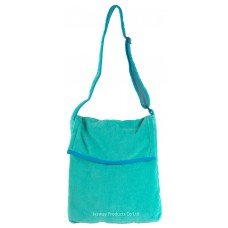 Beach Towel Bag Sidebag Design (Green)