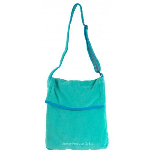 Beach Towel Bag Sidebag Design (Green)