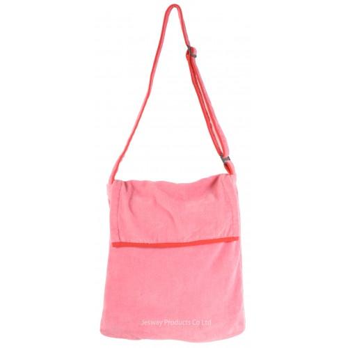 Beach Towel Bag Sidebag Design (Pink)