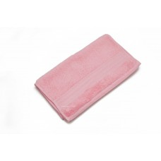 Jacquard Woven Pink Color Hand Towel with embossed border