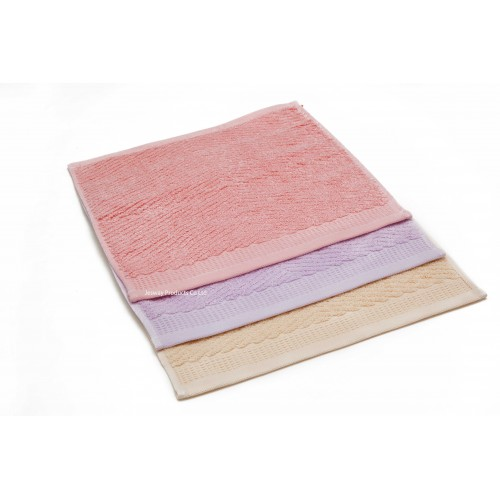 Jacquard Woven  Color Hand Towel with embossed border