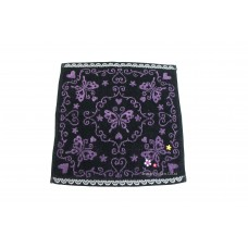 Woven Jacquard Pattern Border Hand Towel with Embroidery