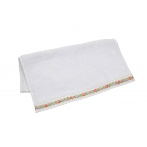 Ribbon Edge and Embroidery Logo Face Towel
