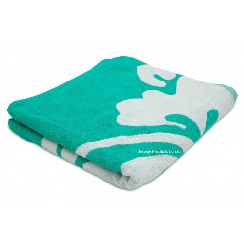 Woven Flower Cotton Beach Towel