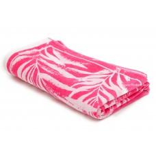 Jacquard Pink White Pattern Beach Towel