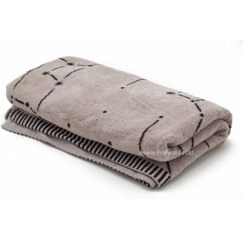 Jacquard Woven Characteristic Grey Beach Towel