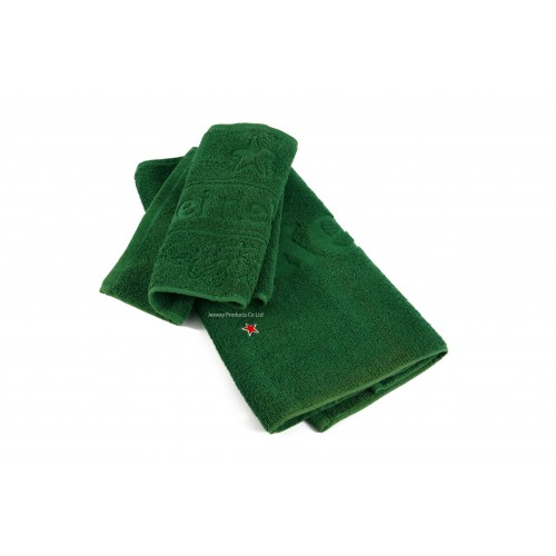 Woven Jacquard Embossed Logo Bar Towel with Embroidery