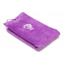 Solid Color Embroidery Logo Golf Towel (Purple)