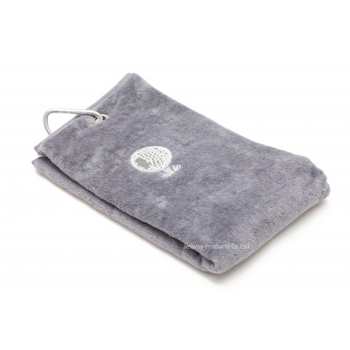 Solid Color Embroidery Logo Golf Towel (Light Grey)