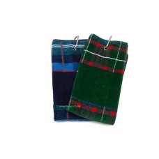 Jacquard Woven Tartan Golf Towel