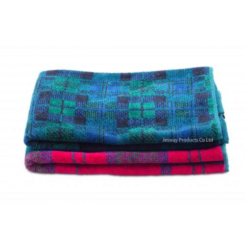 Jacquard Woven Scottish Grid Golf Towel
