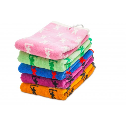 Jacquard Woven Pattern Golf Towel