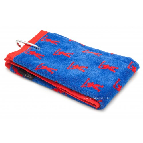 Jacquard Woven Pattern Golf Towel (Blue)
