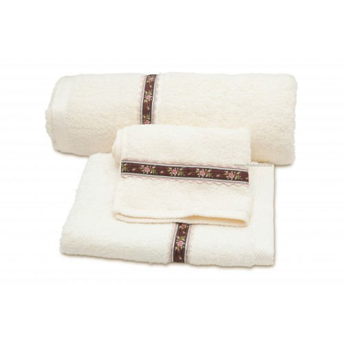 High Quality Solid Color Cotton Hotel Towel Set