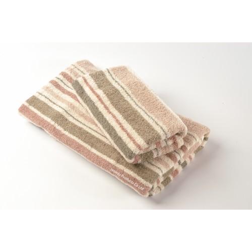 Woven Jacquard Multi-Color Stripe Hotel Towel Set