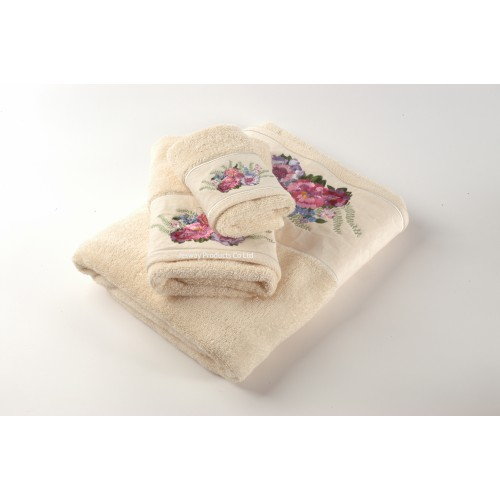 Woven Jacquard Hotel Towel Set with Embroidry